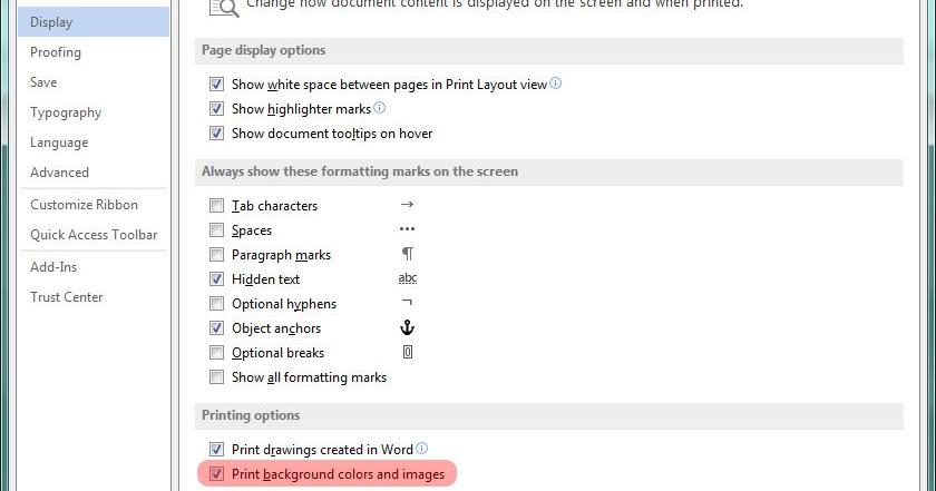 Cara Print Halaman Full Color Di Microsoft Word 2013