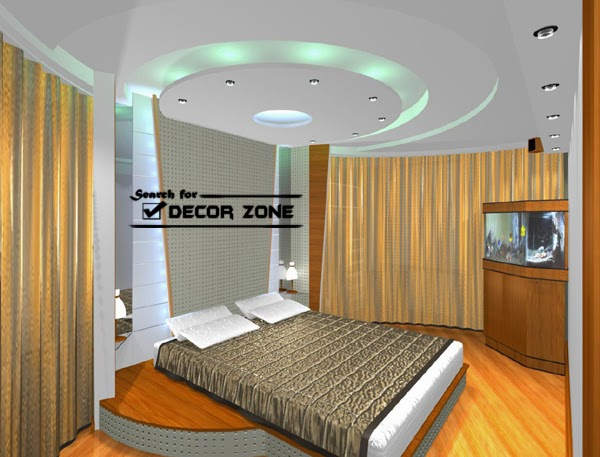 False Ceiling Designs Mad Of PVC For Bedroom Above The Bed Area