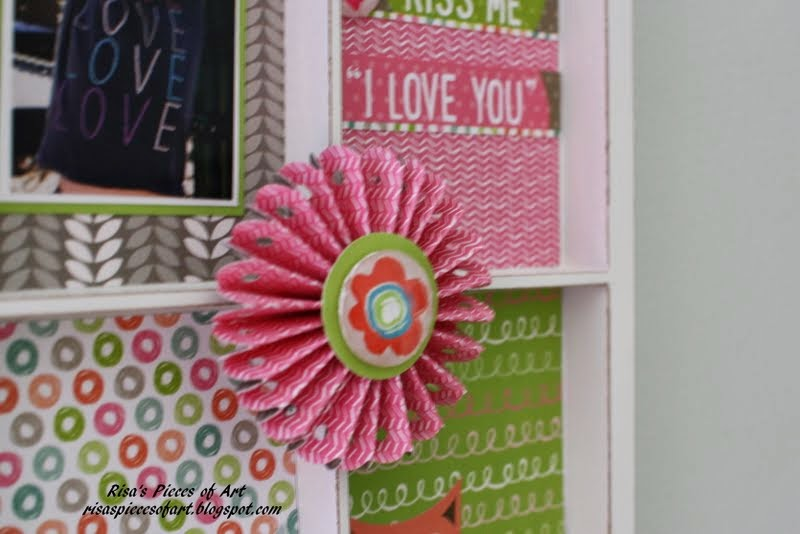 Risas pieces of art march 2014 my favorite detail is this paper rosette i made using a strip of the pink chevron patterned paper a martha stewart border punch and a circle punch pear mightylinksfo
