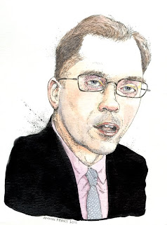 harrisburg pa city councilman council brad koplinski caricature by ammon perry illustration act 47 bankruptcy senator jeffery piccola