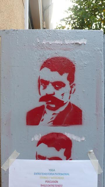 street art in santiago de chile barrio lastarria stencil arte callejero