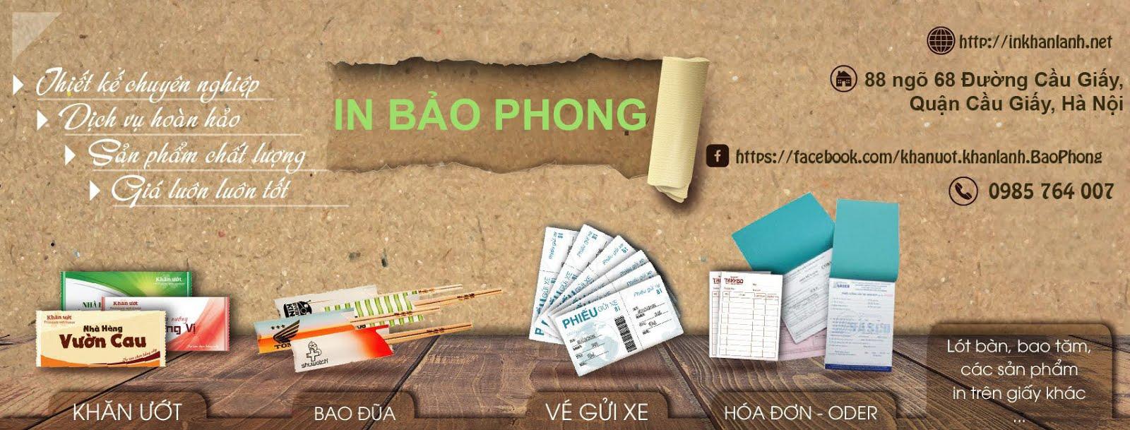 In Khăn lạnh, Khăn ướt vỏ Bao đũa giá rẻ tại Hà Nội.