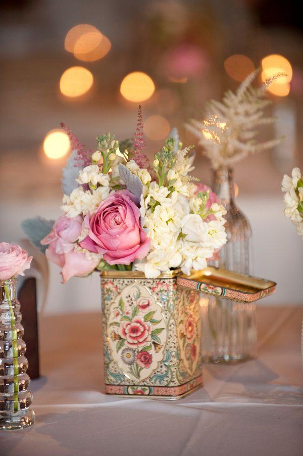 10 fotos de centros de mesa sencillos para boda for Centros de mesa para casa