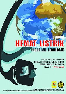 Poster Hemat Energi Listrik