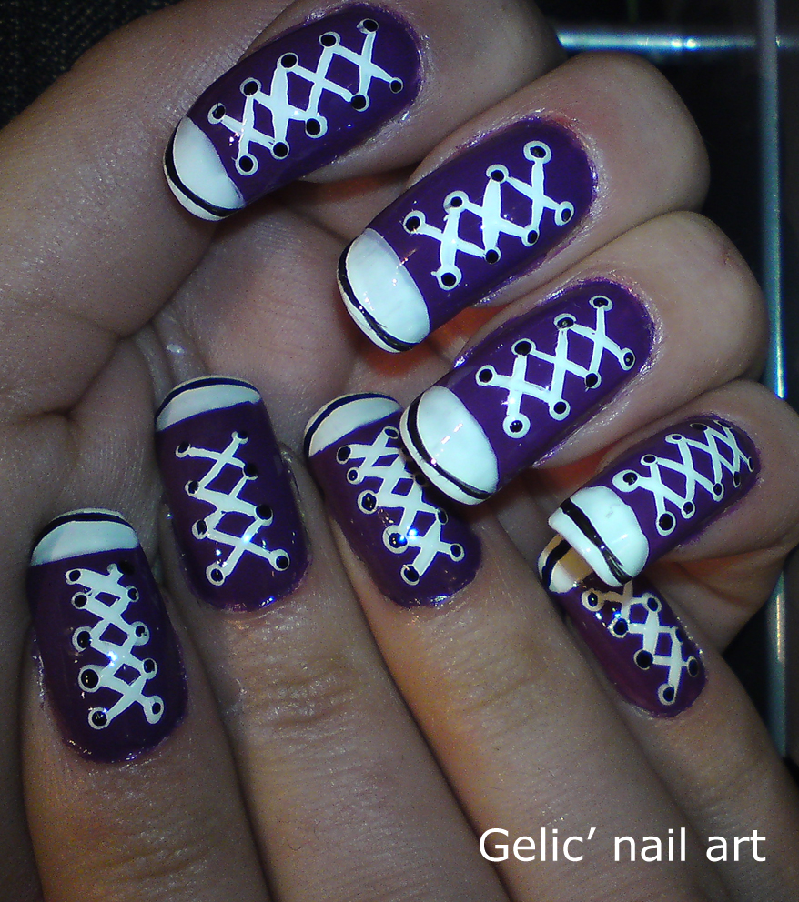 Gelic nail art purple converse shoes nail art and yes all then nails got conversed i had a plan that this would look cool and id were it for some days now im not sure but theyve yet not been prinsesfo Images