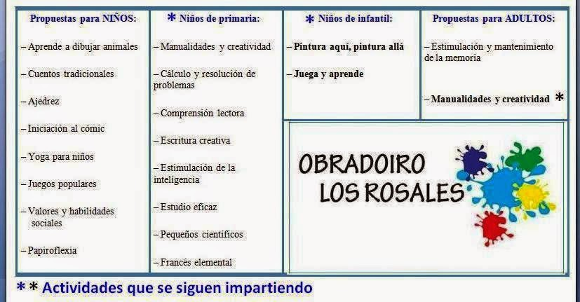 Actividades Obradoiro Los Rosales
