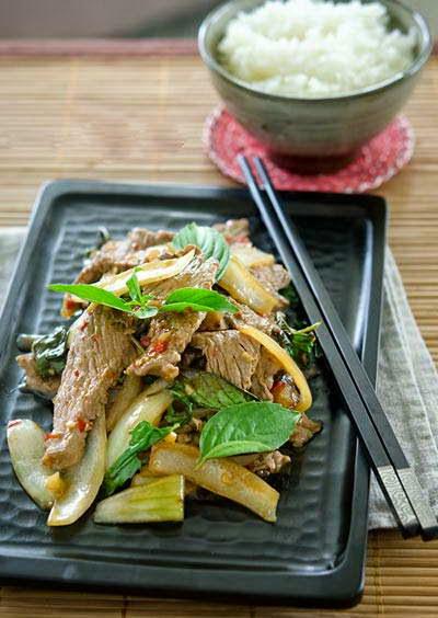 Vietnamese Food - Bò Xào Húng Quế