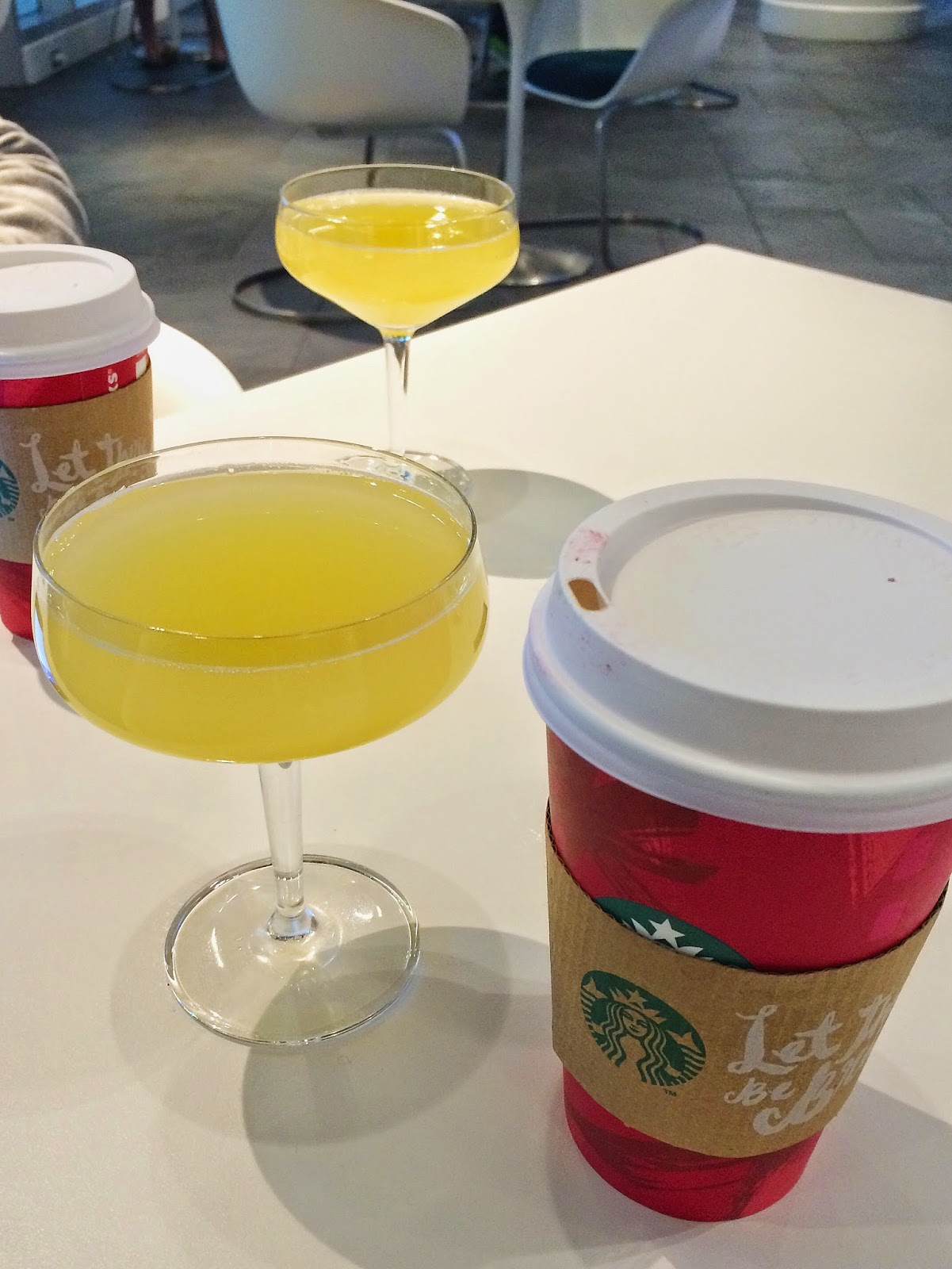 Starbucks and Mimosas