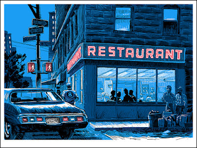 """Unreal Estate"" Tim Doyle Solo Art Show - ""The Big Salad"" Seinfeld Screen Print"