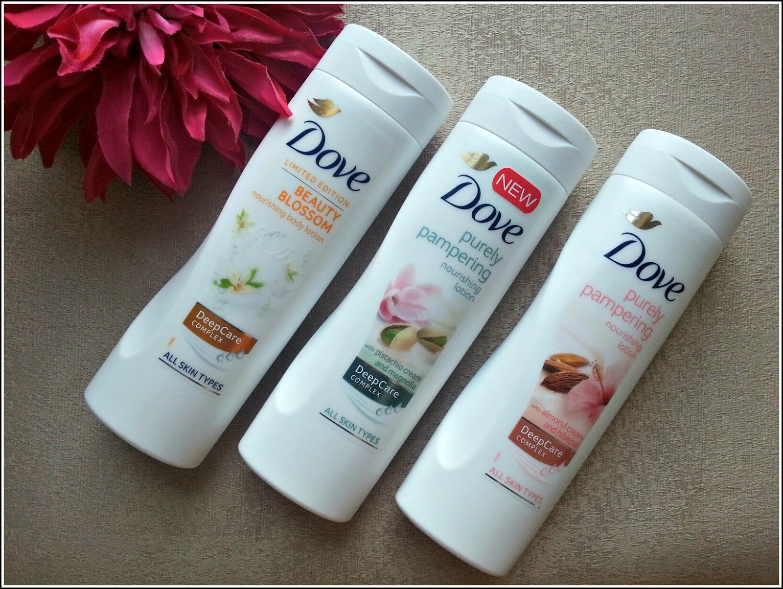 Dove Body Lotions Purely Pampering