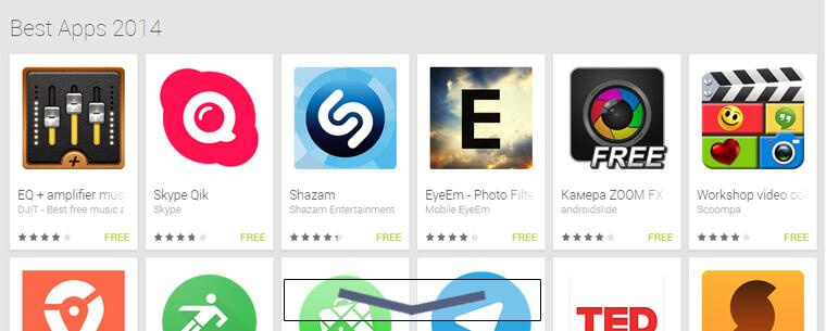 تعرف على أفضل تطبيقات الأندرويد لعام 2014 (أكثر من 63 تطبيق)