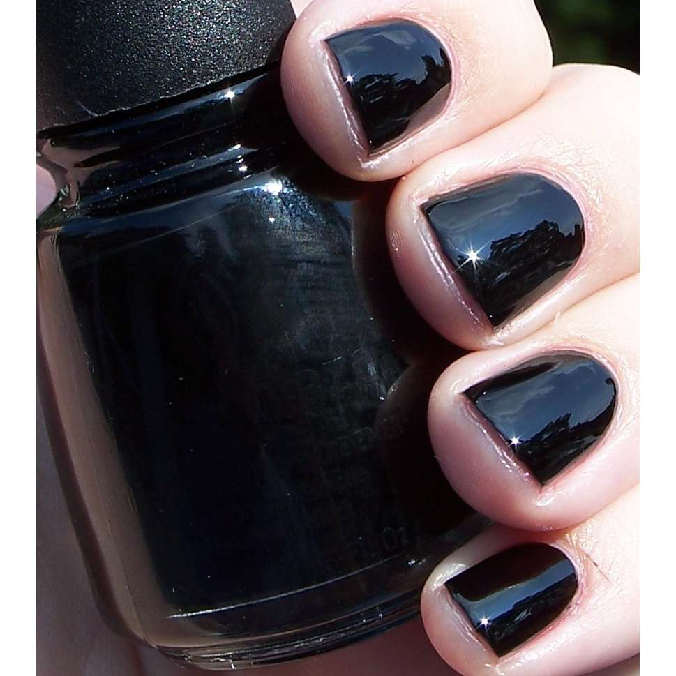 ACRYLIC NAILS: China Glaze Black Nail Polish
