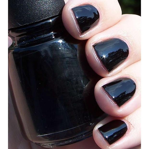 acrylic nails china glaze black
