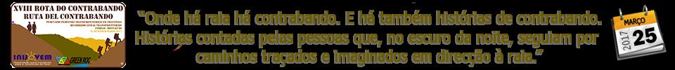 XVIII ROTA DO CONTRABANDO - 2017