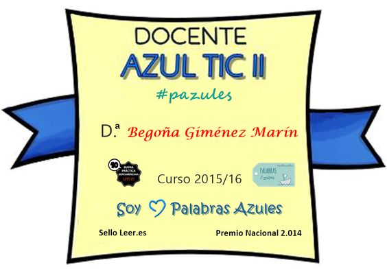 Insignia Docente Azul TIC.II