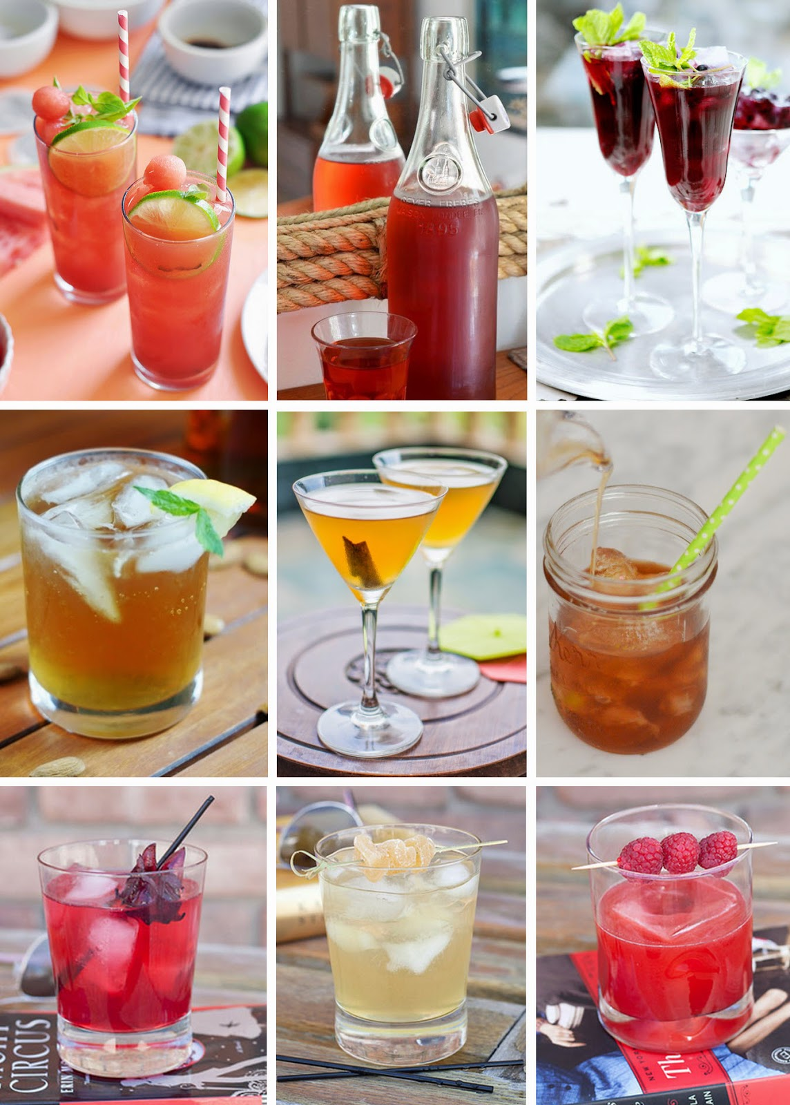 Watermelon Basil Lime Iced Tea // Hibiscus Earl Grey Iced Tea ...