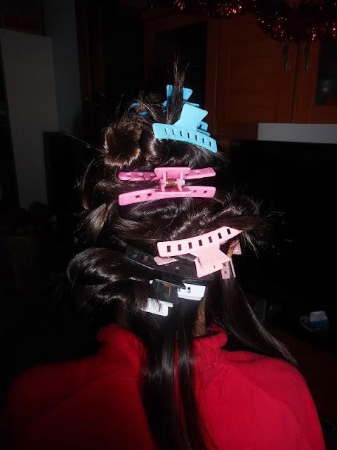 particiones en el cabello