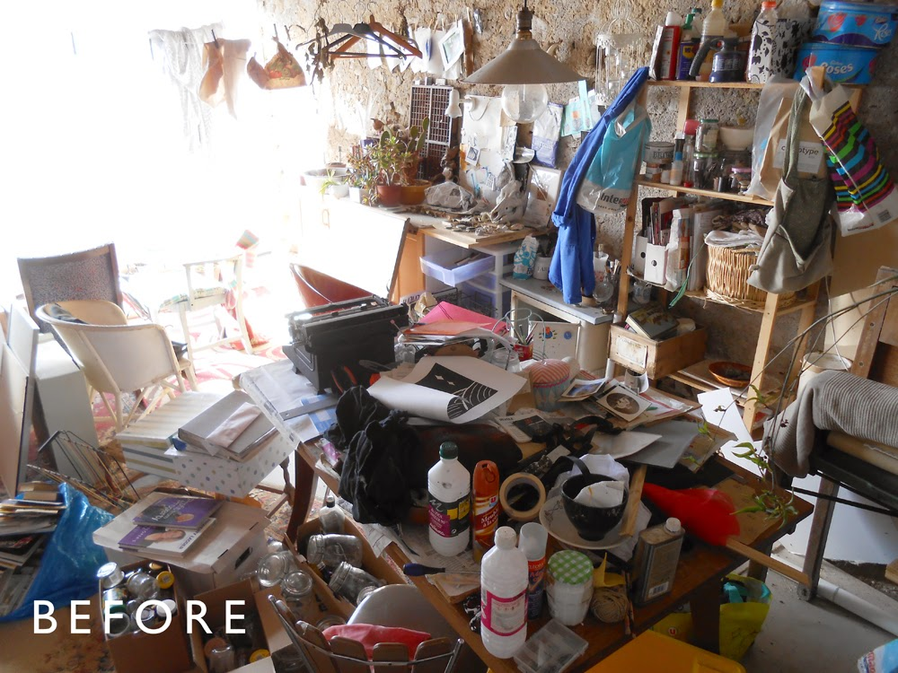 artist's studio before makeover