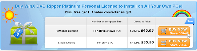 personal license of winx dvd ripper platinum, single license of winx dvd ripper platinum