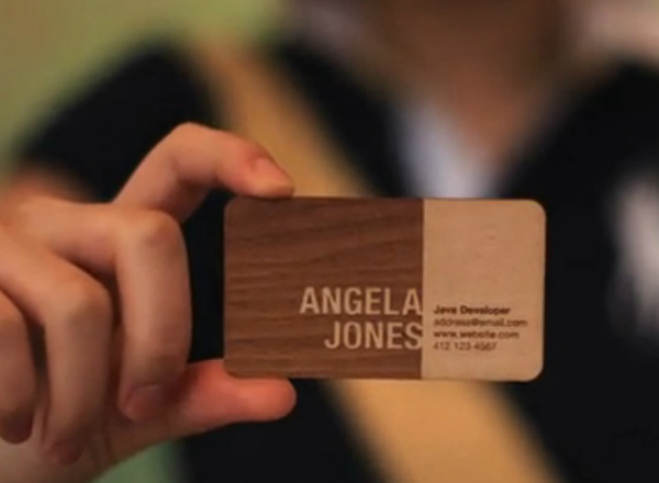 Engraved unique business card spicytec the wood grain pattern makes each and every card truly unique so each person who receives one is getting a special card just for them colourmoves