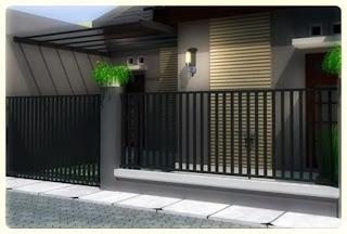 Foto Contoh Desain Pagar Rumah Minimalis