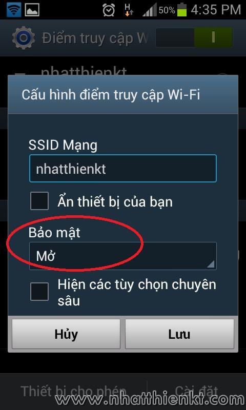 Hướng dẫn phát chia sẻ FiWi trên điện thoại samsung Galaxy Trend gts 7560