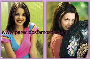 Brasileña Sthefany Brito y Anne Hathaway