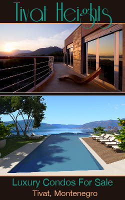 Luxury Condos For Sale or Rent Long Term in Tivat, Montenegro