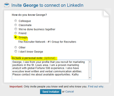 LinkedIn invitation to connect, inviting someone to connect on LinkedIn, LinkedIn invitation message, LinkedIn invitation messaging, LinkedIn invitation options,