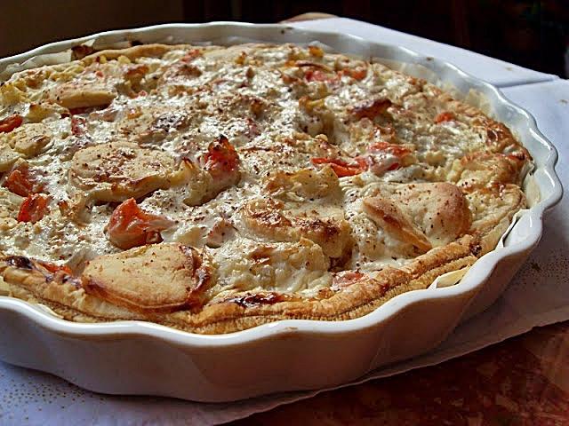 Ma Cuisine Végétalienne: Tarte aux pommes de terre, chou-fleur et fromage (Vegan)