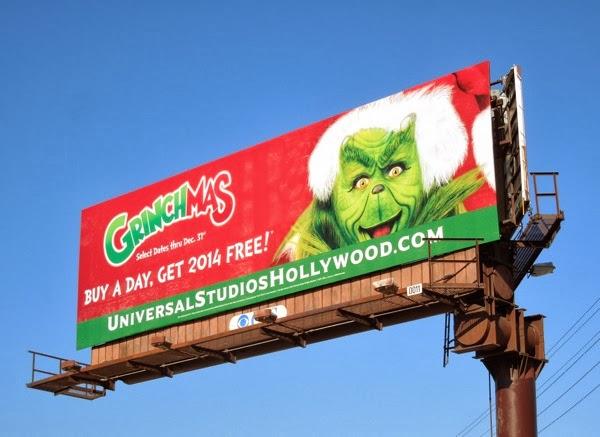 Grinchmas Universal Studios Hollywood billboard 2013