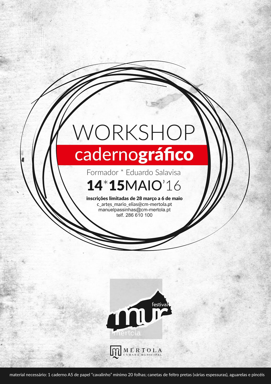 Workshop Caderno Gráfico - Mértola 14 e 15 de Maio 2016