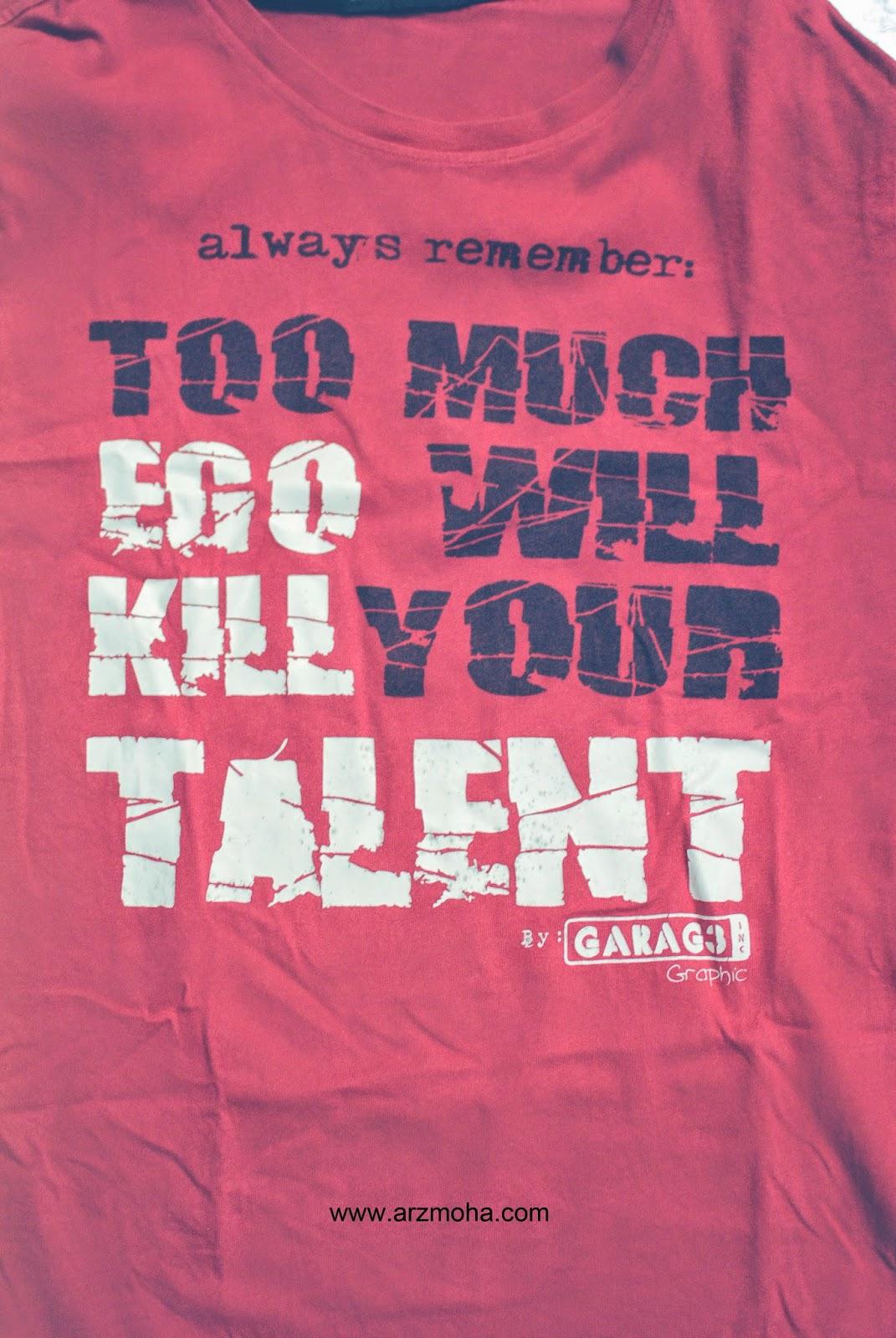 Ego, talent, sabtu, sabtu yang ceria, arzmoha