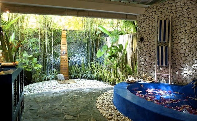 Outdoor Bathroom Designs concrete and wood simply sublime outdoor bathtuboutdoor bathroomsoutdoor Click The Image To Enlarge The Images And Find Your Ideas By Looking At The Images Below About Outdoor Bathroom Ideas