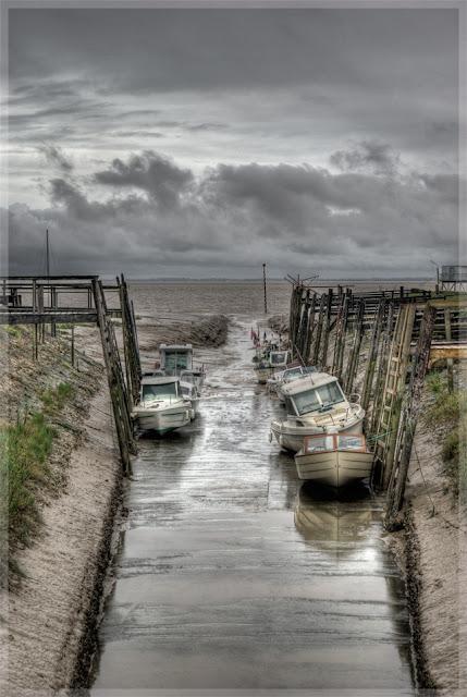 photo hdr paysage, port de pêche, estuaire gironde, photo hdr fabien monteil