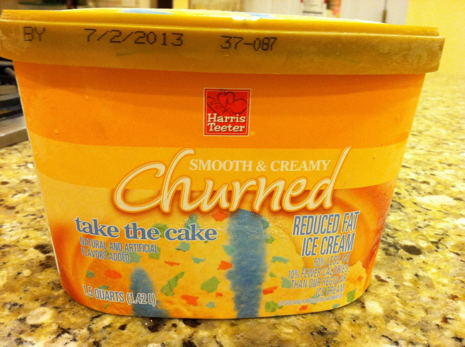 Harris Teeter Brand Reduced Fat Take The Cake I Love This Birthday Flavored Ice Cream With Sprinkles And