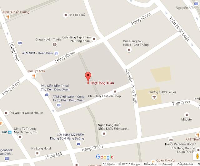 Bản đồ Chợ Đồng Xuân Hà Nội