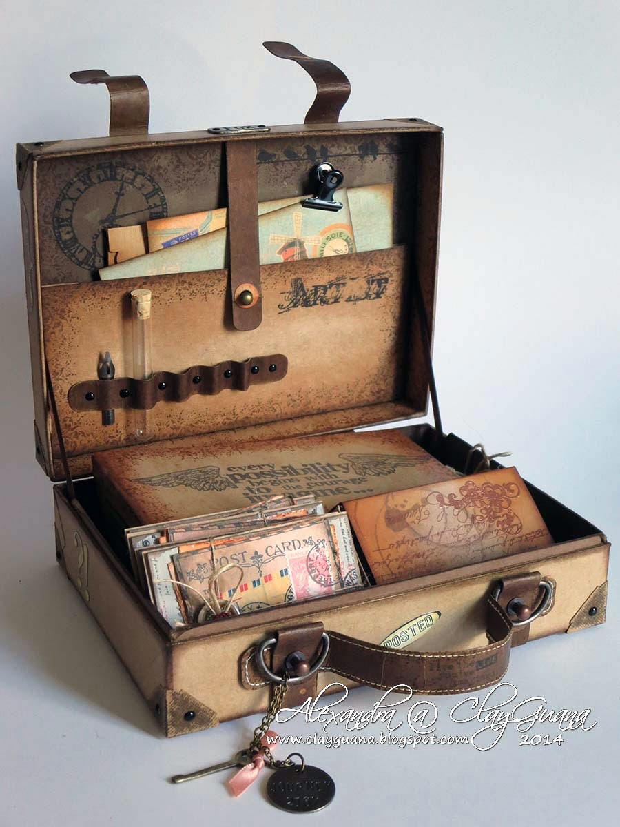 clayguana vintage suitcase. Black Bedroom Furniture Sets. Home Design Ideas