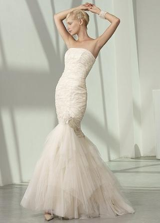 Wedding with style fish style wedding dress for White fishtail wedding dress