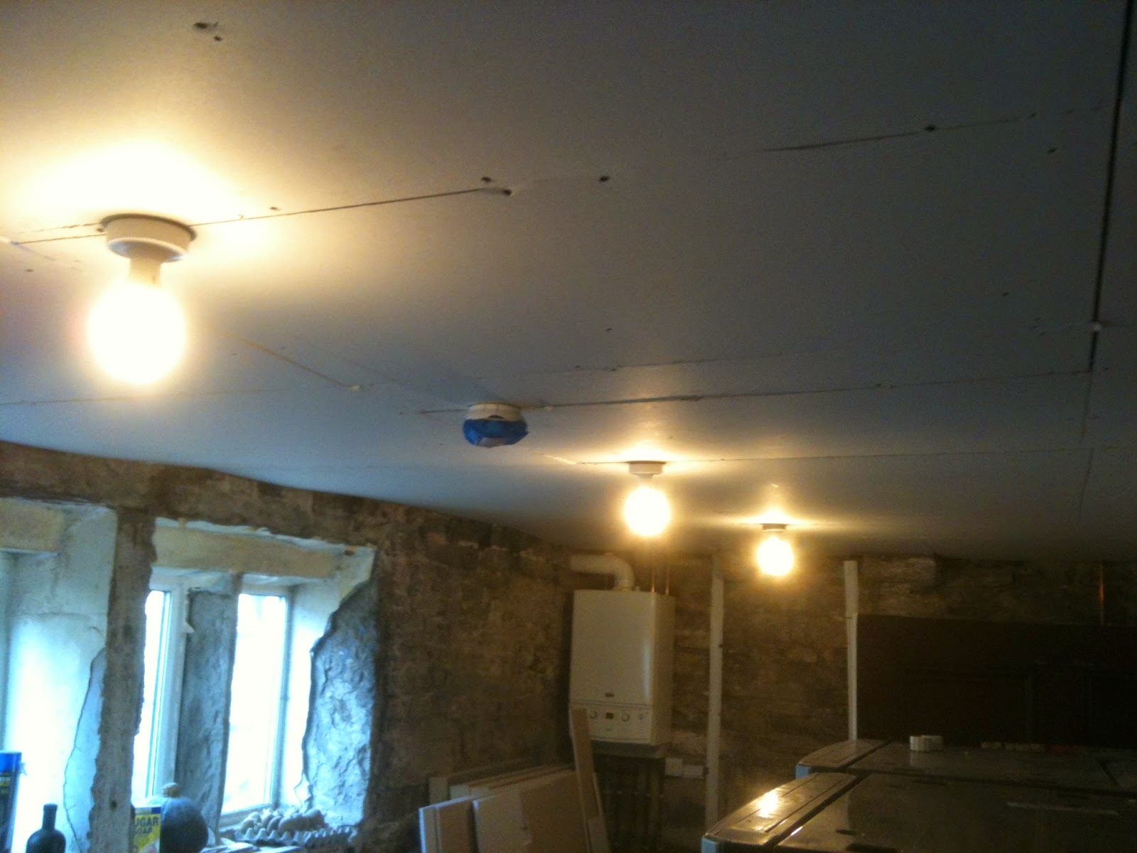 New ceiling #lifeonpigrow #renovations #diy