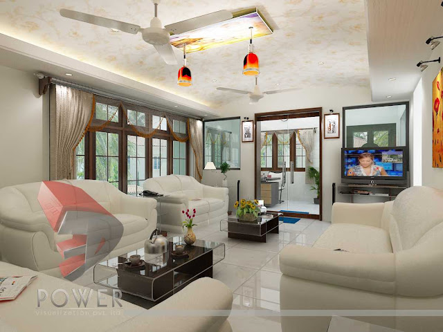 3D Hall Interior Decoration
