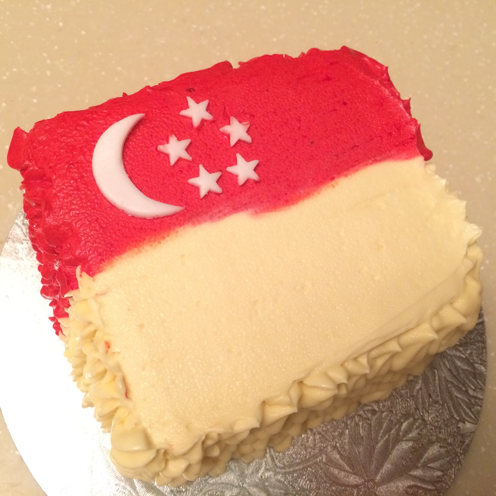 Mini Singapore Flag Cakes Crissas Cake Corner