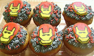 Cupcakes Iron Man, parte 2