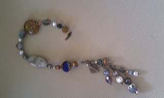 A view of the same bracelet open and sideways.