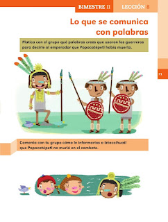Apoyo Primaria Español 2do grado Bloque 2 lección 8 Lo que se comunica con palabras
