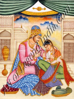 Ibrahim Adil Shah with a lady