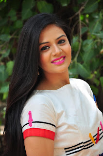 Srimukhi in Lovely White Top and White Skirt spicy Pics