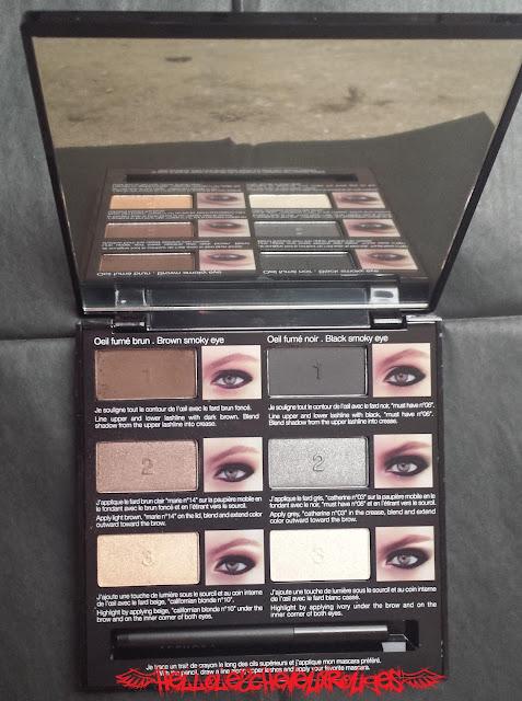 Mirroir et l'intérieur de la palette Sephora Hellolescheveuxrouges