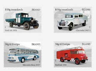 Iceland: The Automobile Age 1913-2013 --- stamps.postur.is - Iceland Post Postphil