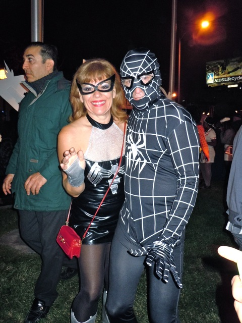 West Hollywood Halloween Spider-people